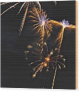 Fireworks 3 Wood Print by Michael Peychich