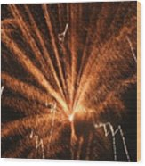 Fireworks A Different Perspective Seven Wood Print