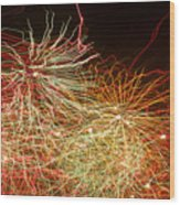 Fireworks Abstract IIi Wood Print