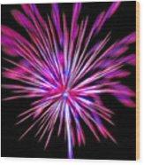 Fireworks Americana Wood Print