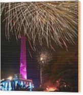 Fireworks At Maspalomas 1 Wood Print
