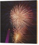 Fireworks At Maspalomas 2  Wood Print