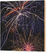Fireworks Celebration  Wood Print