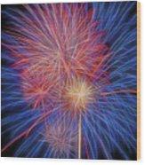Fireworks Celebration Glow Square Wood Print