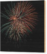 Fireworks Wood Print by Christopher Holmes