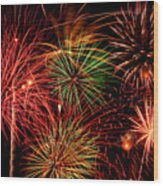 Fireworks Wood Print by Erik Watts