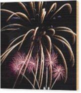 Fireworks Festivities Wood Print