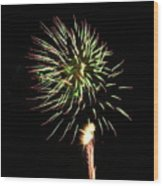 Fireworks From A Boat - 8 Wood Print by Jeffrey Peterson