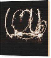 Fireworks Fun Wood Print by Richard Mitchell