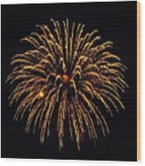 Fireworks - Gold Dust Wood Print