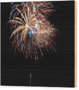 Fireworks IIi Wood Print by Christopher Holmes