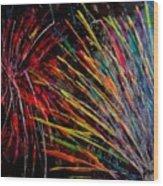Fireworks In Bled Wood Print