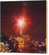 Fireworks In Phoenix Wood Print
