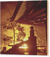 Fireworks, Japan Pavilion, Epcot, Walt Disney World Wood Print