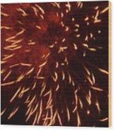 Fireworks Light Up The Sky While Celebrating Bastille Day Wood Print by Sami Sarkis