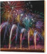 Fireworks Line Wood Print