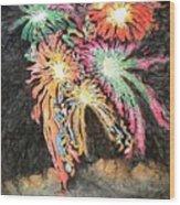 Fireworks Man Wood Print