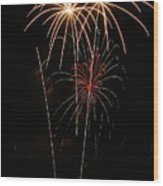 Fireworks Wood Print by Marti Buckely