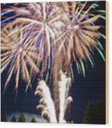 Fireworks No.4 Wood Print by Niels Nielsen