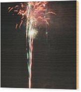 Fireworks On The Lake Wood Print
