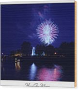 Fireworks Over Concord Point Lighthouse Havre De Grace Maryland Prints For Sale Wood Print