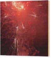 Fireworks Over Humboldt Bay Wood Print