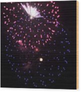 Fireworks Over Puget Sound 10 Wood Print