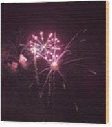 Fireworks Over Puget Sound 13 Wood Print