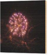 Fireworks Over Puget Sound 2 Wood Print