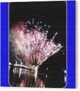fireworks over San Rafael lake Wood Print