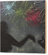 Fireworks Proposal Wood Print