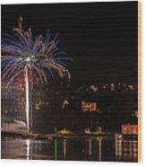 Fireworks Shaldon 2015 Wood Print