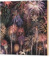 Fireworks Spectacular II Wood Print by Ricky Barnard