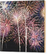 Fireworks Spectacular Wood Print