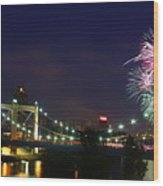 Fireworks Wood Print by Tracy Reese