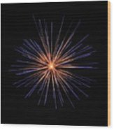 Fireworks Two Wood Print