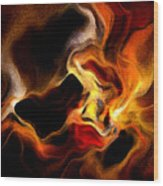 Firey Wood Print