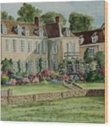 Firle Place England Wood Print