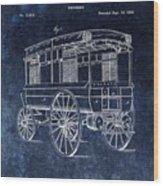 First Ambulance Patent Wood Print