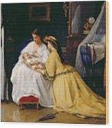 First Born Wood Print
