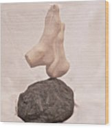 First Chakra Muladhara Root Left Detail Wood Print
