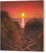 First Encouter Beach Sunset September 2017 Wood Print