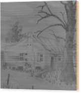 First House Wood Print