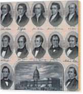 First Hundred Years Of American Presidents Wood Print