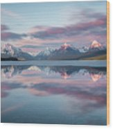 First Ice Off // Lake Mcdonald, Glacier National Park  Wood Print