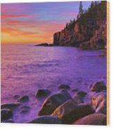 First Light At Boulder Beach Wood Print