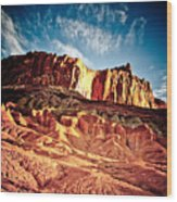 First Light At Capitol Reef Wood Print
