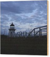 Daybreak At Doubling Point Light  Wood Print
