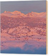 First Light Colorado Rocky Mountains Panorama Wood Print