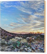 First Light In Valley Of Fire Wood Print